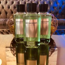 3 cans Bath Body Works FRESHWATER 2-in-1 Hair Body Wash Show