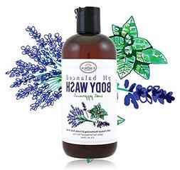 100% Natural Liquid Bath Soap, pH Balanced Body Wash for Sen