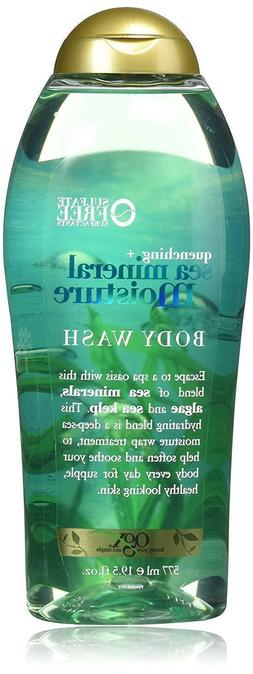 19.5 Ounce OGX Quenching + Sea Mineral Moisture Body Wash