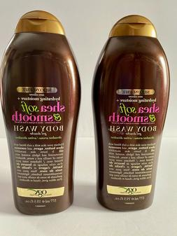 2 Bottles OGX 19.5 Oz Hydrating Moisture Shea Soft & Smooth