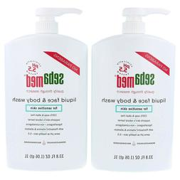 2 pack - Sebamed Liquid Face and Body Wash for Sensitive Ski