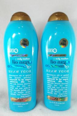 2 OGX Radiant Glow Argan Oil of Morocco Extra Hydrating Body
