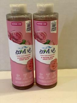 2 St Ives Body Wash ROSE WATER & ALOE VERA  16 Ounce