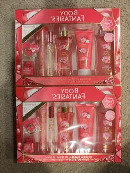 Body Fantasies Sweet Crush Bath Body Gift Set Wash Spray Lo