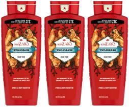3 Old Spice Wild Bearglove Scent Body Wash for Men, 21 fl oz