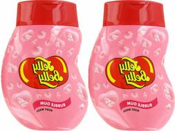 2 x JELLY BELLY BUBBLE GUM PINK BODY WASH SHOWER GEL SOAP KI