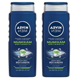 2 x NIVEA Men Maximum Hydration 3-in-1 Body Wash 16.9 fl. oz