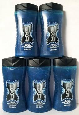 24 Pack Axe Shower Gel Shock, Men Glacier Water Deep Sea Min