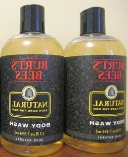 2x Burt's Bees Body Wash For Men Natural Skin Care For Men