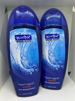 2x Softsoap For Men Active Body Wash Ocean Fresh Shower Gel