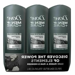3 Pack Dove Men+Care Body Wash Charcoal & Clay 33.8 oz Men's