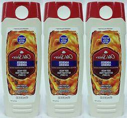 3 Old Spice AMBER With BLACK CURRANT For Men Boys Body Wash