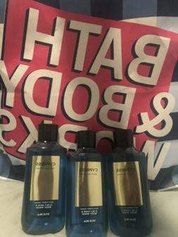 3 Bath and/& Body Works CYPRESS Hair Body Wash Shower Gel 10