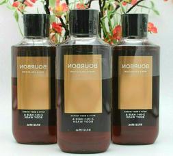 3 Bath & Body Works Bourbon 2-in-1 Hair Body Wash Shower Gel