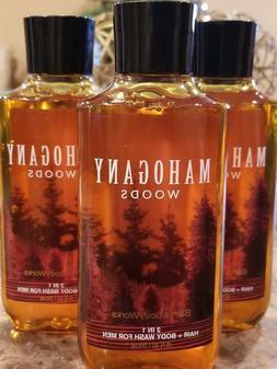 3 BATH & BODY WORKS MAHOGANY WOODS FOR MEN 2 IN 1 SHOWER GEL