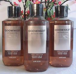 3 Bath & Body Works Teakwood Hair and Body Wash for Men