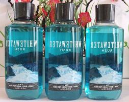 3 Bath & Body Works Whitewater Rush Hair and Body Wash for M