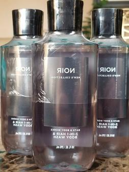 3 Bath Body Works Noir 2 in 1 Hair & Body Wash Shower Gel 10