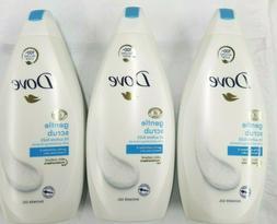 3 DOVE GENTLE EXFOLIATING NOURISHING SHOWER BODY WASH SOFT S