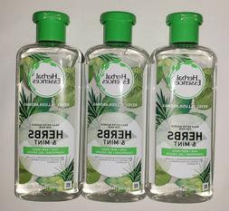 3 Herbal Essences Herbs & Mint Hair & Body Wash Gel Shampoo
