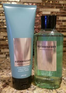 3 BATH AND BODY WORKS MENS COLLECTION FRESHWATER 2-1 HAIR BO