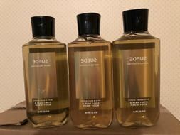 3 BATH AND BODY WORKS MENS COLLECTION SUEDE 2-1 HAIR AND BOD