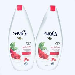 2 x Dove Go Fresh Body Wash Pomegranate & Hibiscus Tea Showe