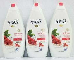 3PCS Dove Reviving Body Wash Pomegranate & Hibiscus Tea 500M