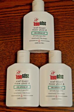 3x SebaMed Ph 5.5 Liquid Face Body Wash Travel Sz 1.69floz E