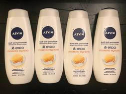 4 - Nivea Body Wash Care & Orange Blossom 16.9 oz each