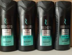 4 AXE Body Wash Men Apollo Sage & Cedarwood 16 oz Each