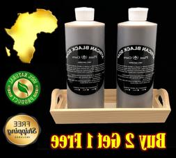 8 oz. Liquid African Black Soap Raw 100% Pure Natural Organi