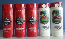 Old Spice Body Wash SWAGGER & FIJI Scent / 16 oz each / Fre