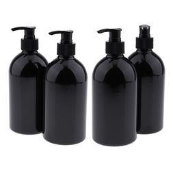 500mL Empty Travel Plastic Bottles w/Pump, Refillable Contai