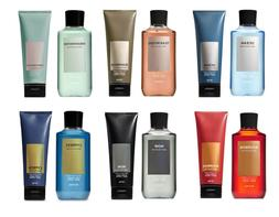 Bath and Body Works Men Set Body Cream & 2-in-1 Hair + Body