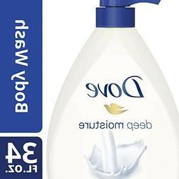 Dove Body Wash, Deep Moisture Pump, 34 Ounce,