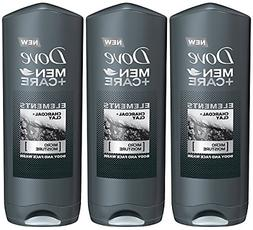 Dove Men + Care Elements Body Wash, Charcoal and Clay, 13.5