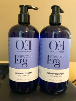 EO Shower Gel, French Lavender, 16-Ounce Bottles
