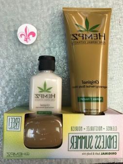 Hempz Original Herbal Body Wash 8.5oz Moisturizer 2.25 oz Tr