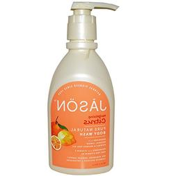 Jason Natural, Pure Natural Body Wash, Revitalizing Citrus,