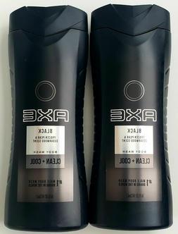 Lot of 6 AXE Men Black Body Wash, Clean + Cool 16 fl oz Froz