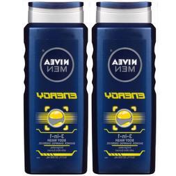 NIVEA FOR MEN 3-in-1 Body Wash Energy 16.90 oz
