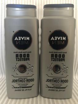 NIVEA FOR MEN Odor Protect Control Body Wash 16.9 oz
