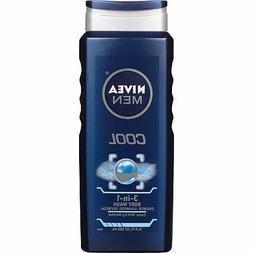 NIVEA Men Cool 3-in-1 Body Wash 16.9 Fluid Ounce