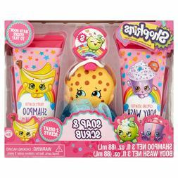 Shopkins Shampoo Soap & Scrub 4PC Bath Set Kids Body Wash NE