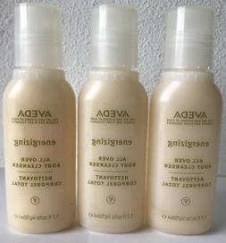 X3 AVEDA ENERGIZING ALL OVER BODY CLEANSER WASH 1.7 OZ   TRA