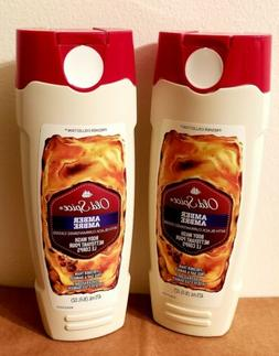 Old Spice AMBER Body Wash Black Currant DISCONTINUED Lot of