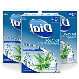 Dial Antibacterial Deodorant Soap, Icy Aloe, 4-Ounce Bars, 3