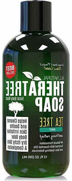 Antifungal Tea Tree Oil Body Wash -HUGE 16 OZ -100%Pure &Nat
