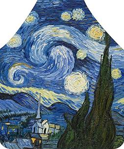 Axe Sickle Van Gogh Painting The Starry Night Apron,Personal